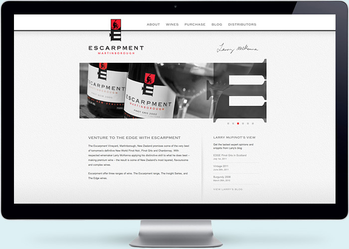 Escarpment Estate Website